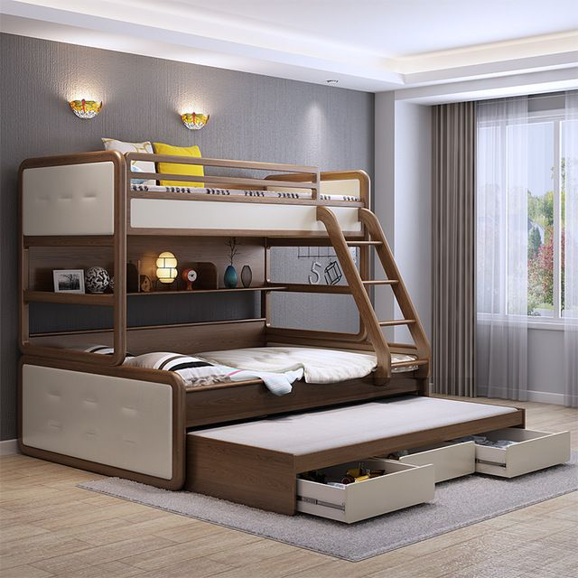 Best Source Modern New Style Solid Wood Furniture Triple Bunk 640 x 480