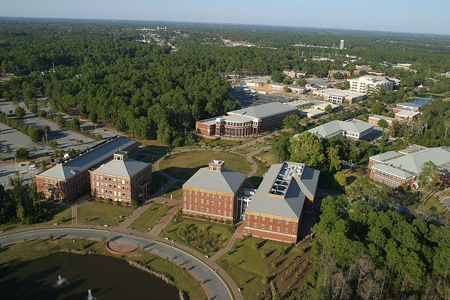 Aerial Photo Of Campus Georgia Southern University Georgia