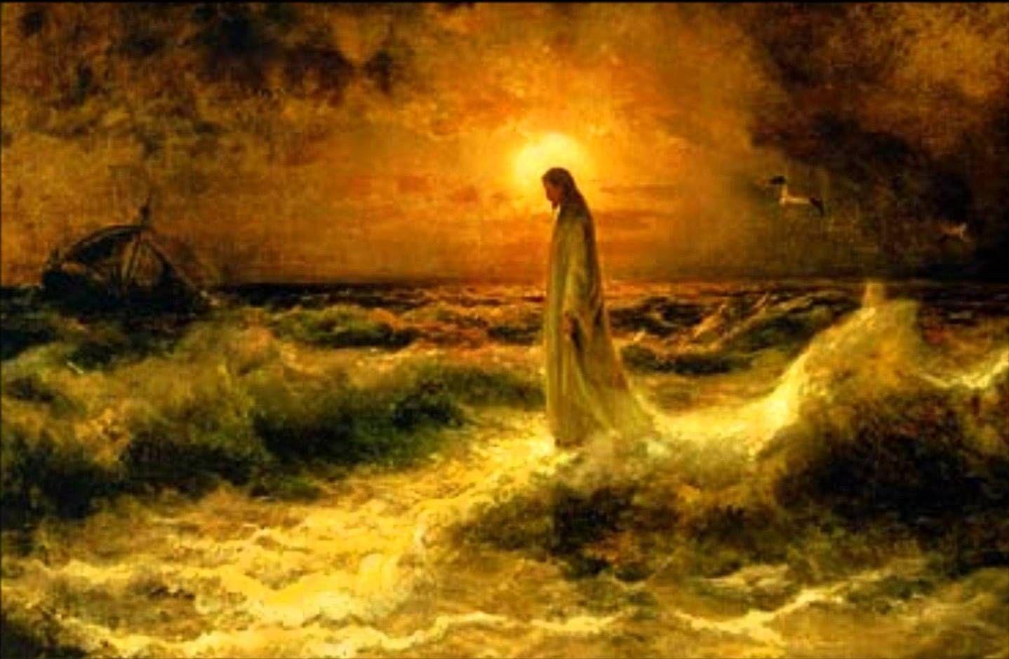 Julius von Klever - Jezus chodzący po wodzie
