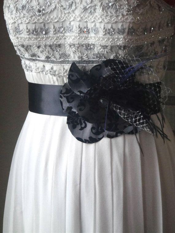 Bridal Sash In Black