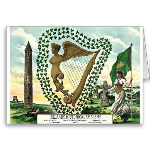 Ireland Historical Emblems St. Patrick's Day Card