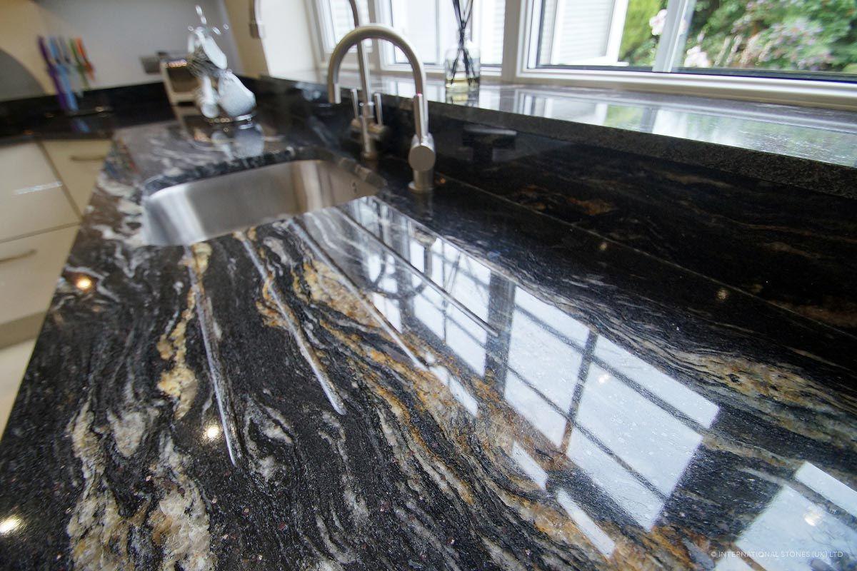 Cosmic Black Granite By International Stones Uk Ltd Black Granite Kitchen Black Granite Granite