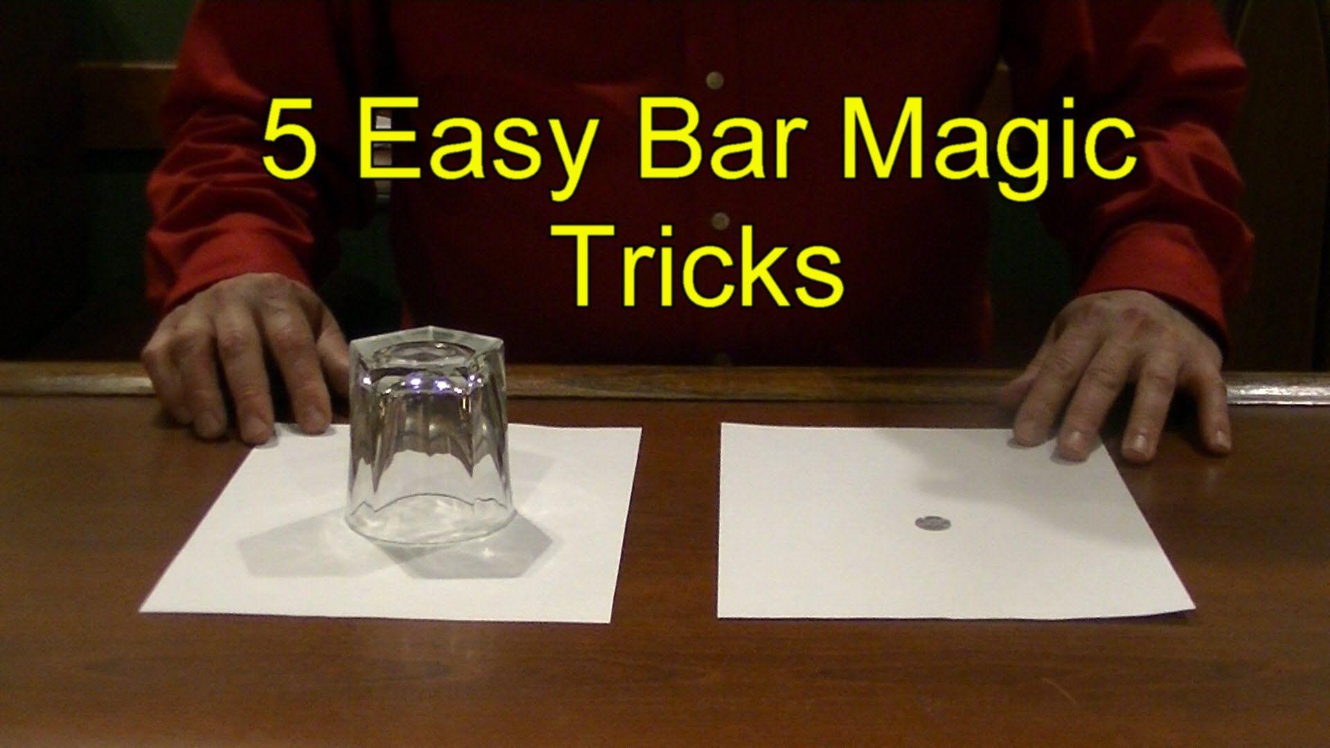 5 Easy Bar Magic Tricks Epic Cool Simple Magic Trick Youtube