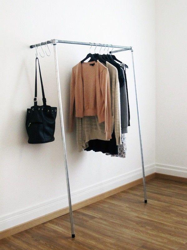 Kleiderstange Diy funktional robust und simpel sind wohl die drei begriffe welche