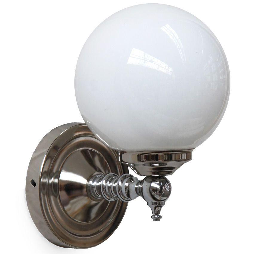 Kleine Glaskugel-Wandleuchte mit kurzem Arm von Aire Lighting