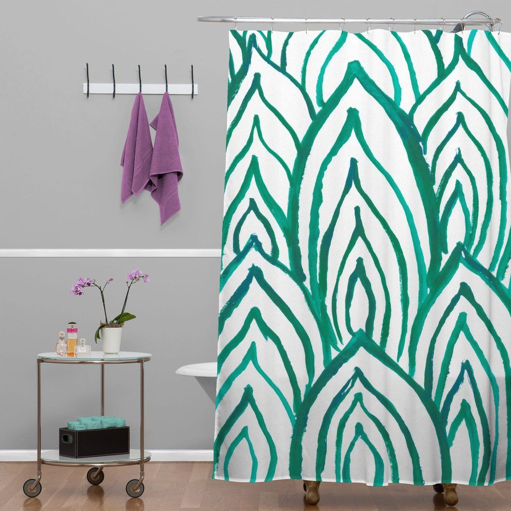 Rebecca Allen Emerald Coast Shower Curtain Deny Designs Home Accessories Green Shower Curtains Shower Curtain Colorful Curtains