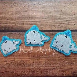 Winston Whale Feltie Embroidery Design