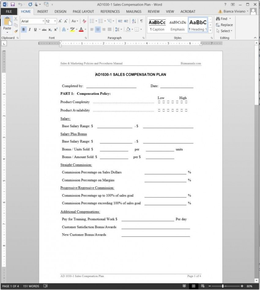 Explore Our Example Of Employee Compensation Plan Template For Free How To Plan Professional Templates Templates