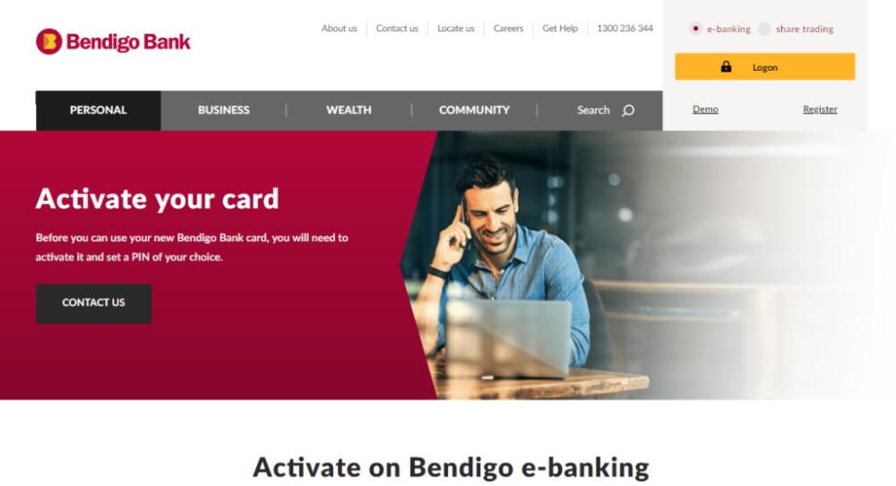 Bendigo Bank Card Activation Bank Card Banking App Bendigo