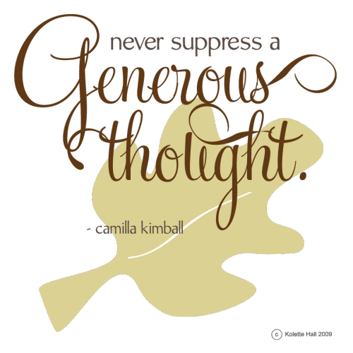 Generous Thought