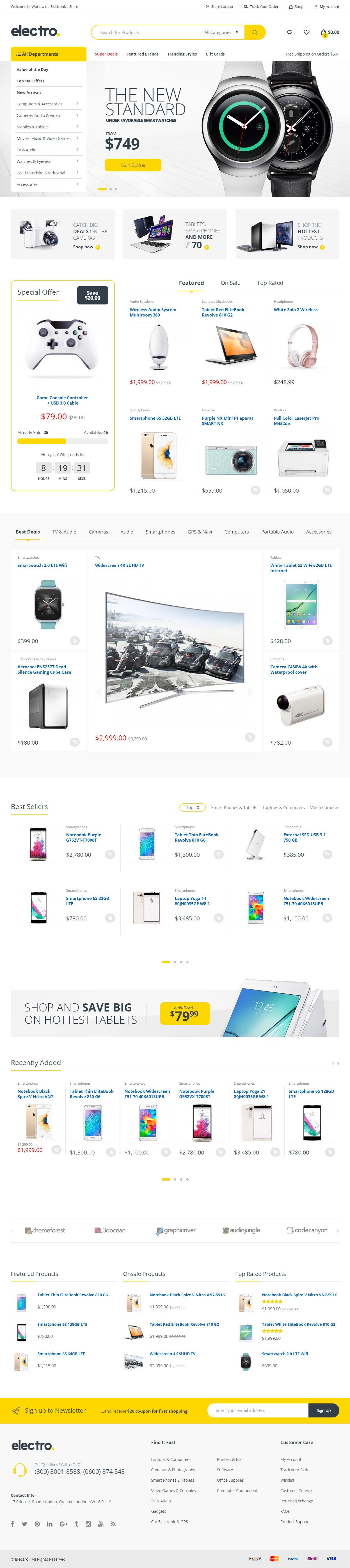 Electro is Premium full Responsive Retina WordPress Theme