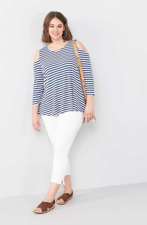 def0fe97a1d46 Plus Size Clothing For Women. Bobeau Top   SLINK Jeans Skinny Jeans Outfit  with Accessories (Plus Size)