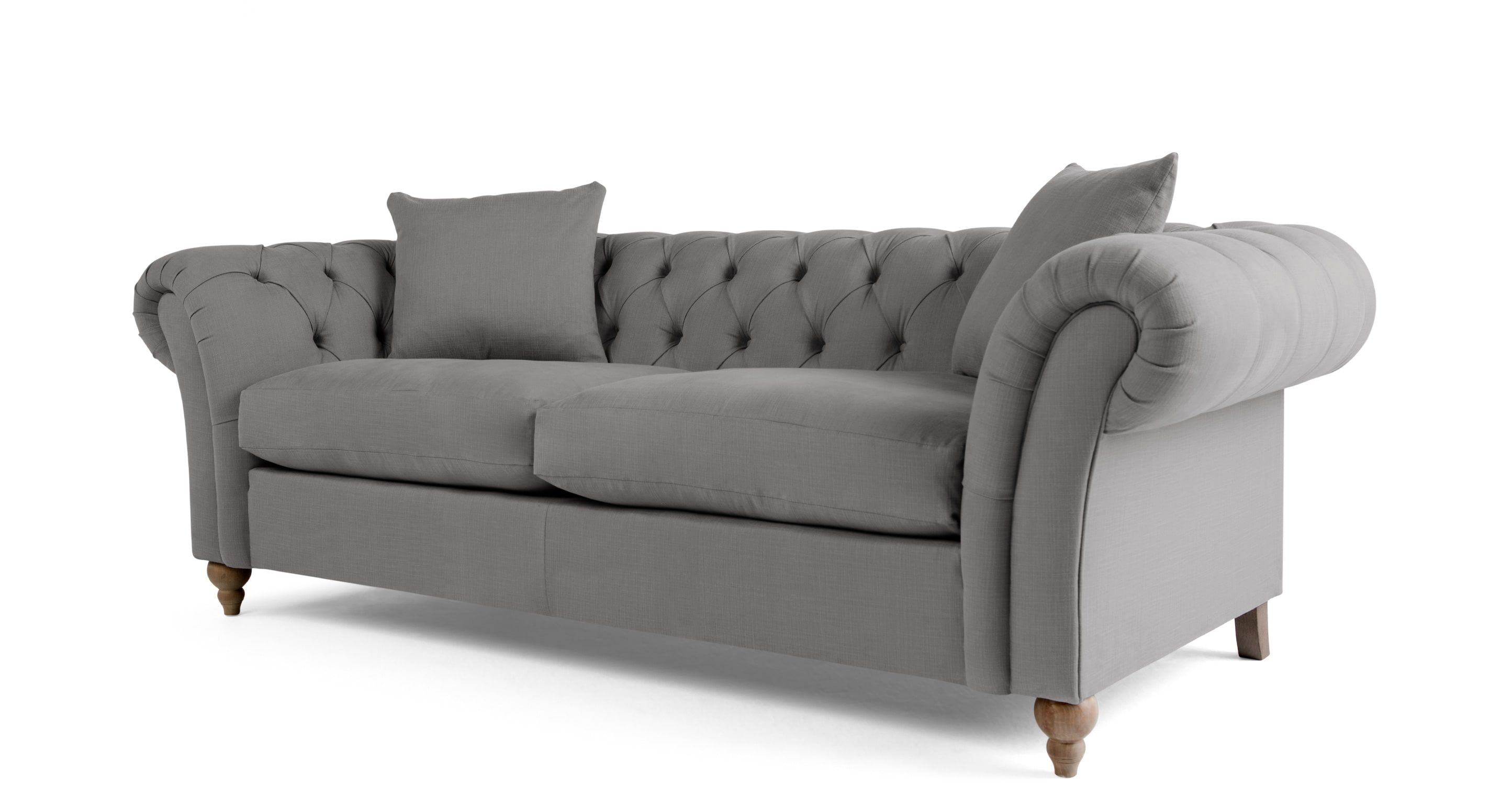 Bardot 3 Sitzer Chesterfield Sofa Platingrau Sofa Inspiration Chesterfield Sofa Teal Living Rooms