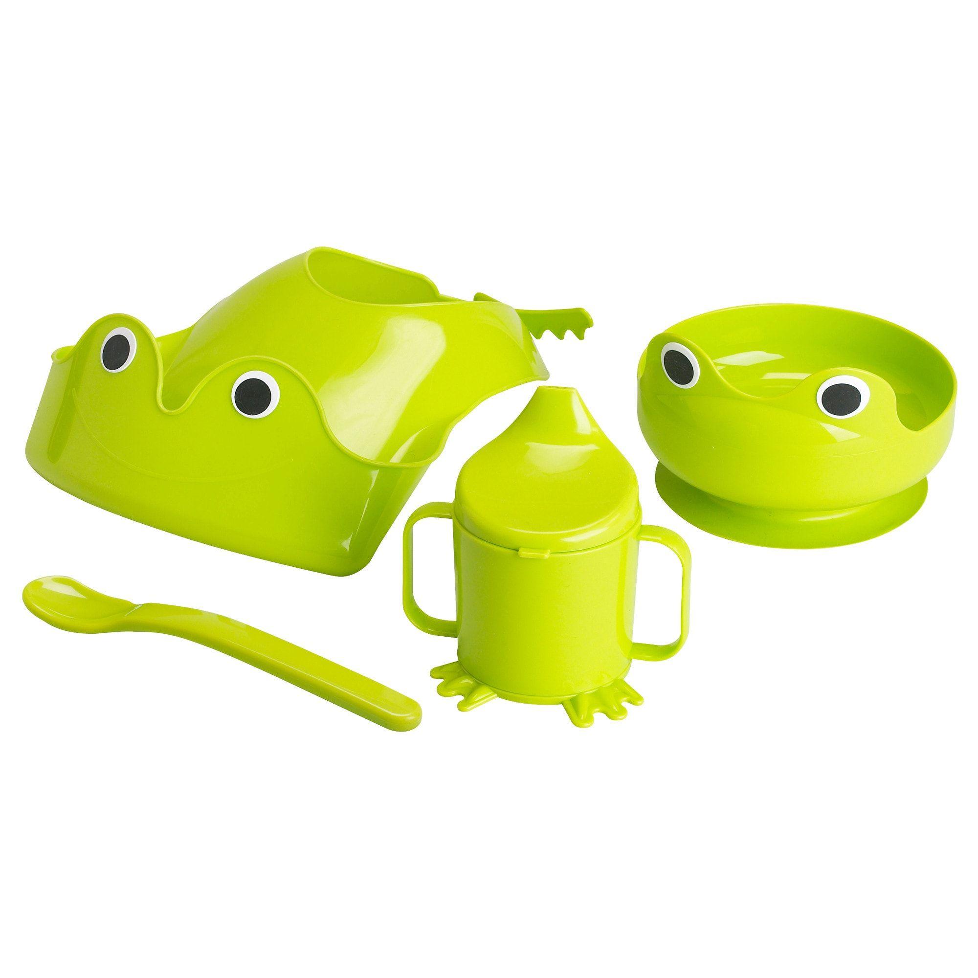 Mata 4 Piece Dinnerware Set Green Ikea Baby Ikea Dinnerware