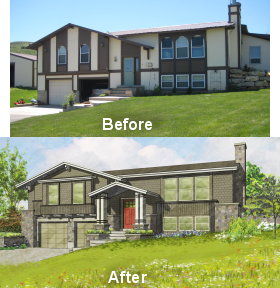 pleasing split entry house remodel before and after. New updated look for this split entry house  Facelifts Homes