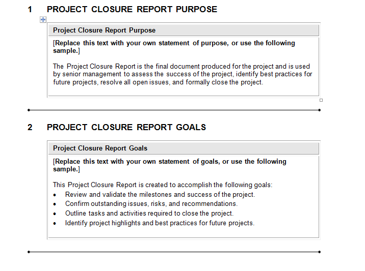 Project Closure Report Template Download For Complete Project