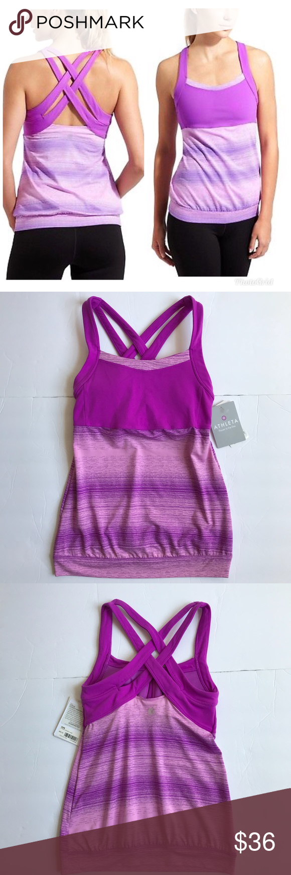 Athleta Stride Crunch and Punch Tank Top Athleta Stride