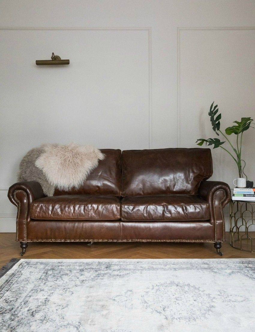 Retro Sofa Leather Vintage Leather Sofa 3 Seater Sofas Armchairs Vintage