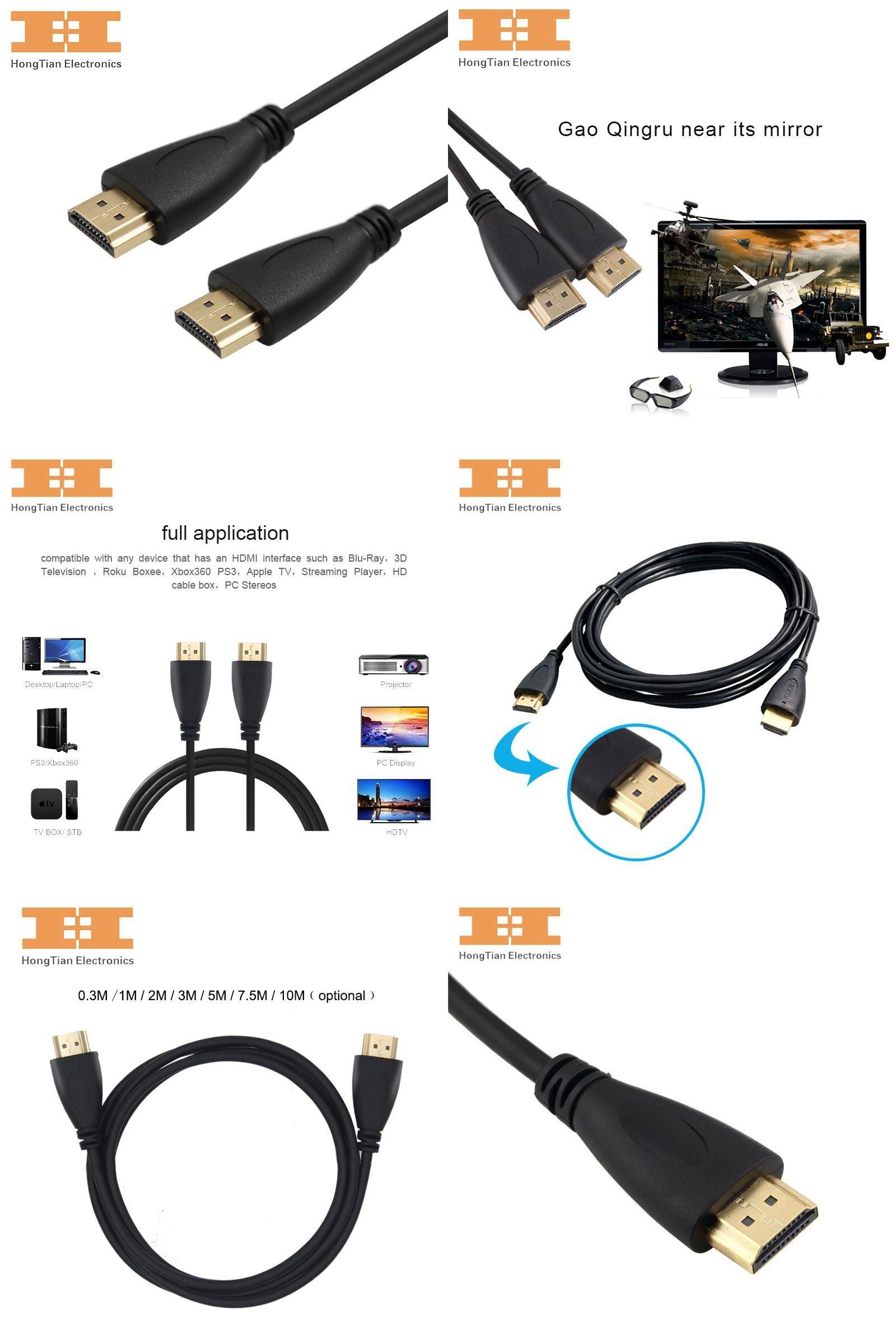 Visit To Buy Hdmi Cable 1080p High Speed Gold Plated Plug Male 2meter