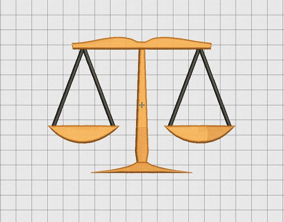 Scales Of Justice Embroidery Design In 2x2 3x3 4x4 5x5 And 6x6 Etsy Embroidery Designs Free Machine Embroidery Designs Machine Embroidery Designs