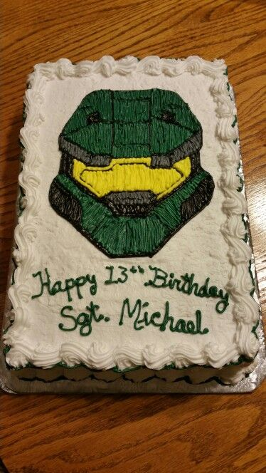Halo Birthday Cake Pinteres