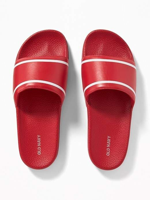 0999de35d9f Old Navy Faux-Leather Slide Sandals for Men