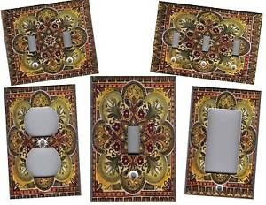 TUSCAN KITCHEN HOME DECOR OUTLET COVER ITALIAN TILE PRINT