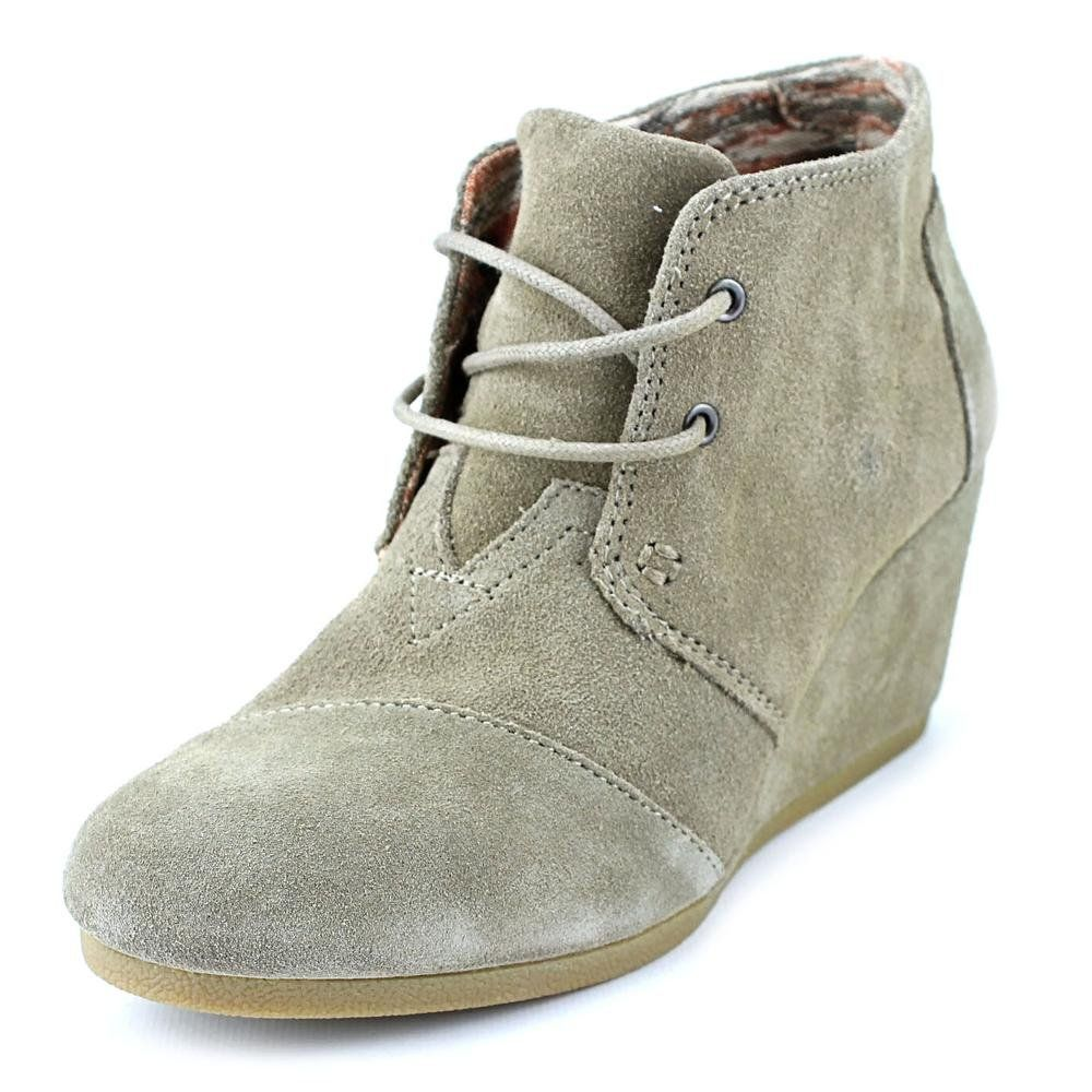 395a6c14a809 Toms Women s Desert Wedge Taupe Casual Shoe 8 Women US