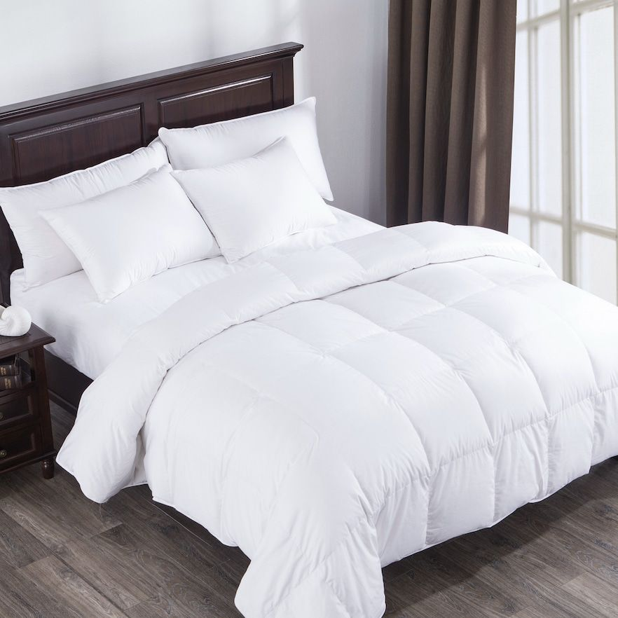 Dream On Winter Heavy Fill White Goose Down Comforter Full Queen