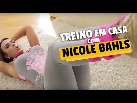 Treino em casa para perder barriga com Nicole Bahls   Queima de 48 Horas