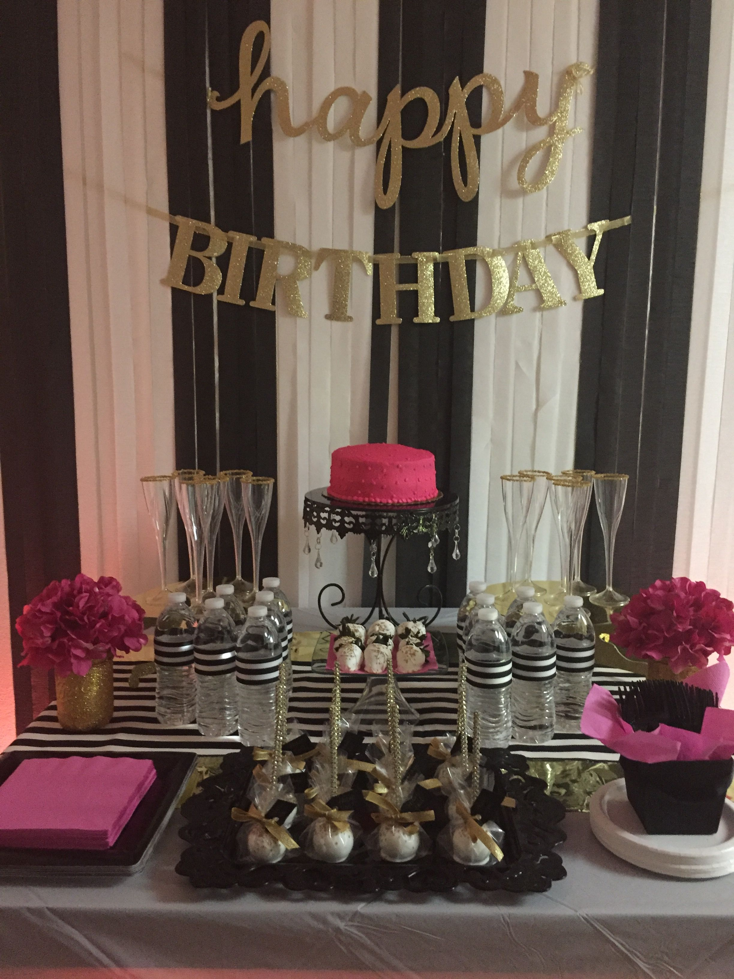 40th Birthday Bash I Put Together Kate Spade Inspired Partyideas Birthdayparty Blackwhitegold 40th Birthday Parties 50th Birthday Party Birthday Party 21 [ 3264 x 2448 Pixel ]