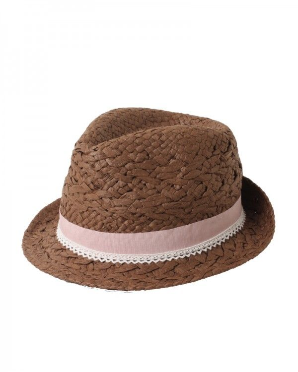 108f0d58c3f20 D Y Paper Braid Fedora With Faux Leather Ties Hat
