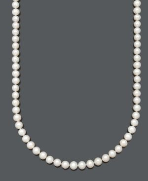 c98856469 Belle de Mer Aa+ Cultured Freshwater Pearl Strand Necklace (7-1/2-8-1/2mm)  in 14k gold