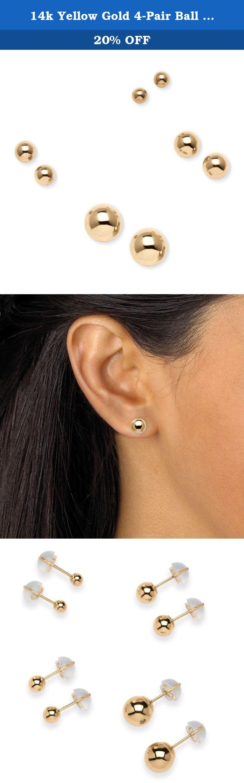 14K White Gold Madi K Childrens 5 MM Ball Post Stud Earrings