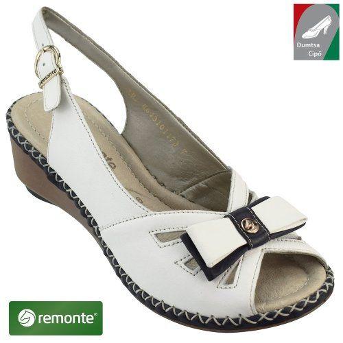 5b7bedf672 Remonte női bőr szandál D6157-80 fehér kombi | Rieker cipő webáruház