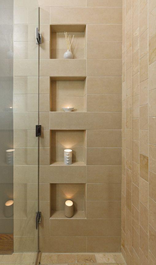 Shower Niche Ideas Bathroom Contemporary With Calla Lilies Ceramic