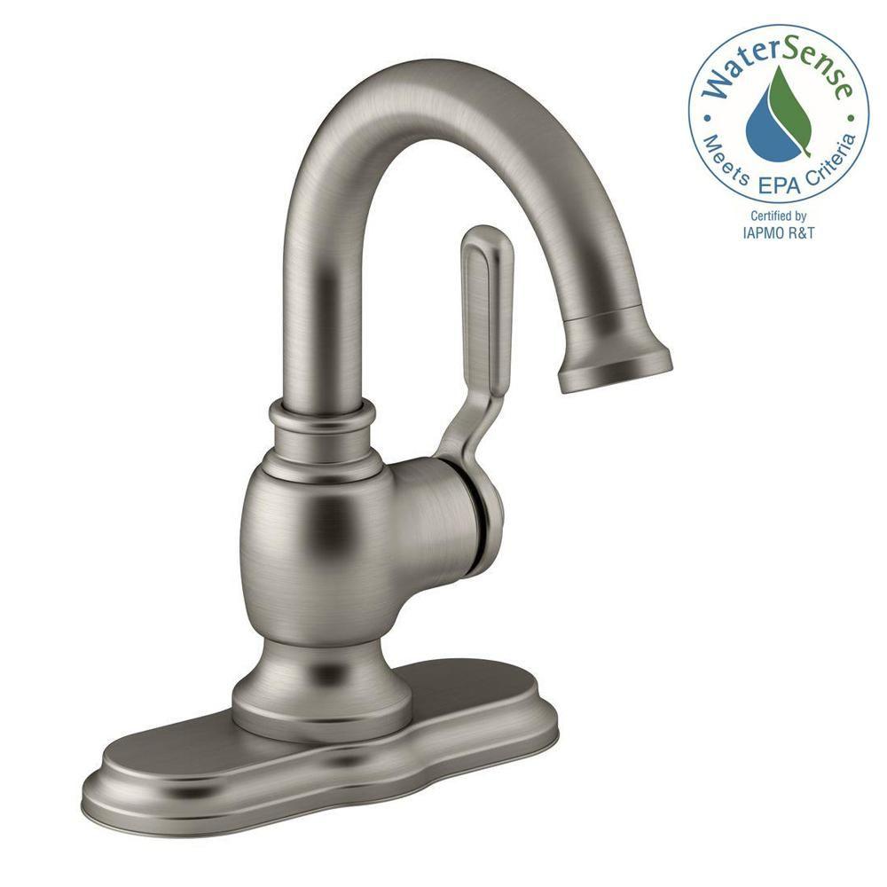 Salle De Bain Frise Douche ~ kohler worth single hole 1 handle bathroom faucet in vibrant brushed