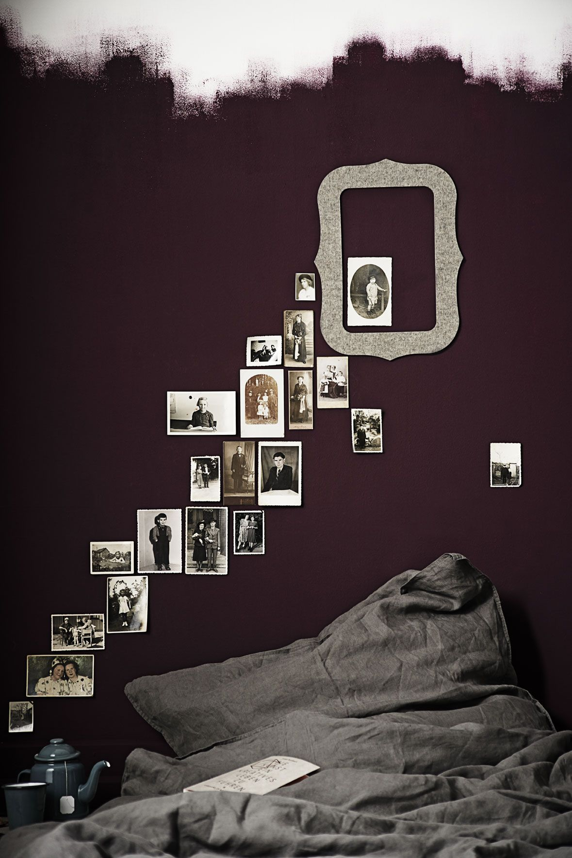 DIY mit alten Fotos und unseren selbstklebenden Bilderrahmen EMMI aus 100% Filz. www.roomstories.de