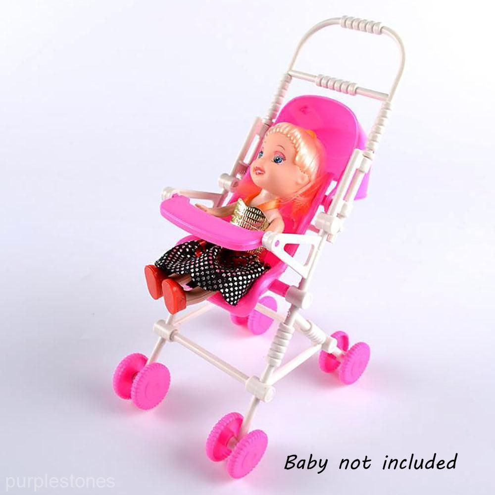 New Funny Baby Buggy Stroller Trolley Pink Dollhouse