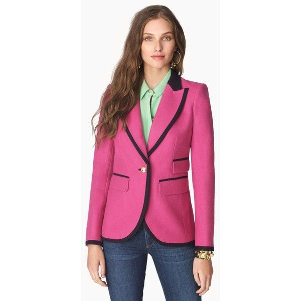 Bright Wool Blazer ($165) ❤ liked on Polyvore