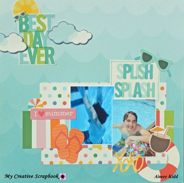 *MCS* Best Day Ever - Pebbles - Sunshiny Days Collection. June Creative Kit 2017 MCS
