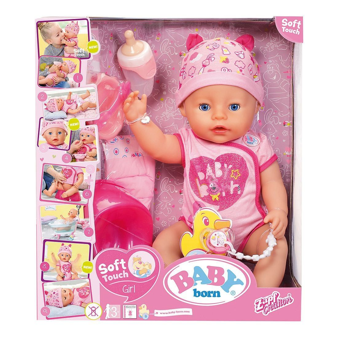 Baby Born Soft Touch Doll Pink Target Australia Baby Born Baby Doll Nursery Baby Doll Accessories