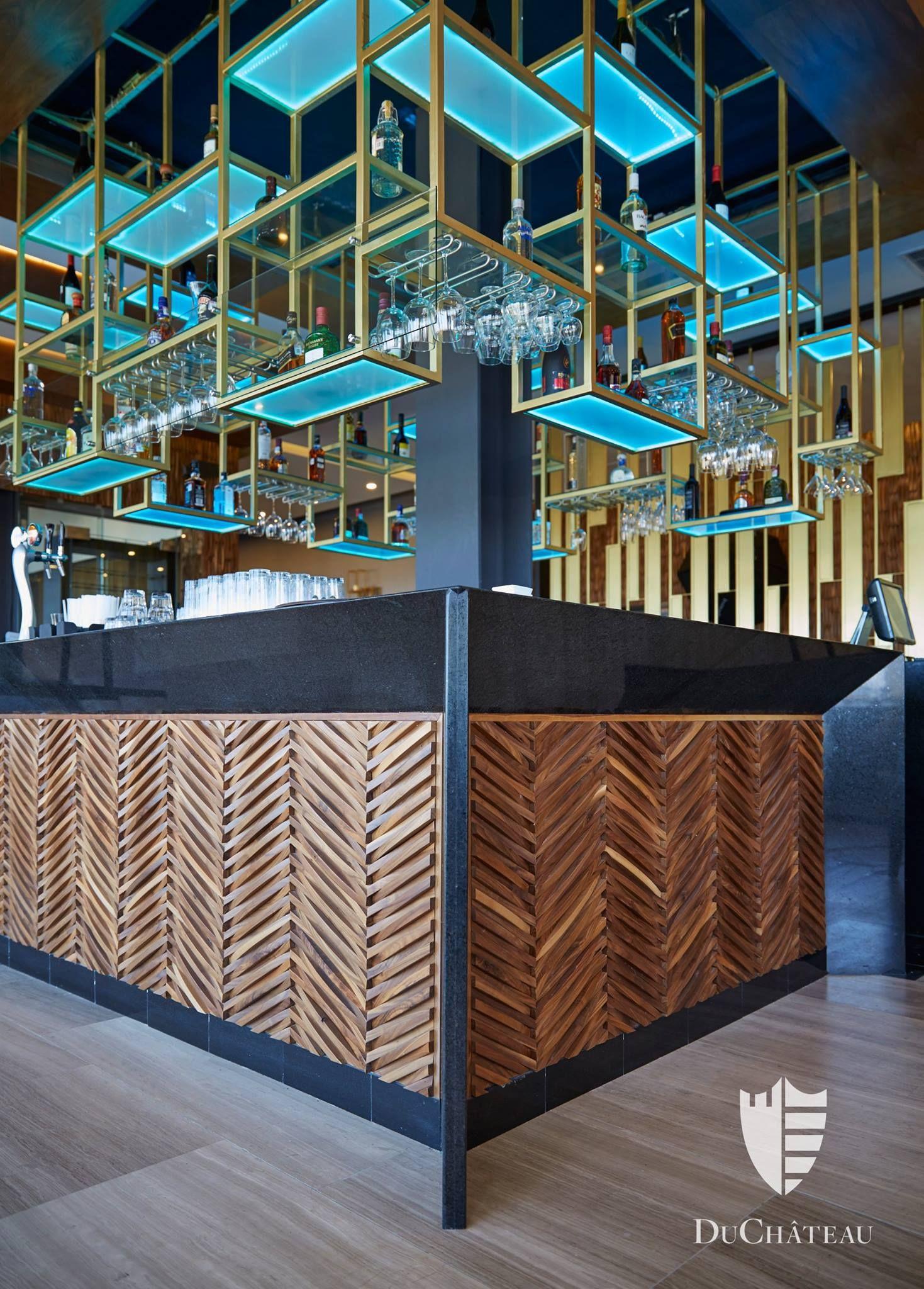 Beautiful Wall Covering At This Bar Bar Design Restaurant Luxury Bar Bar Interior