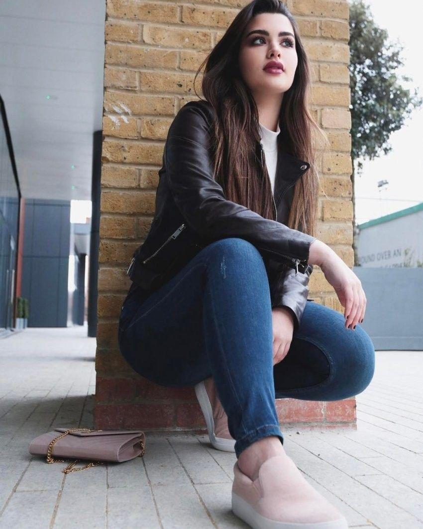 Arab girl in jeans you