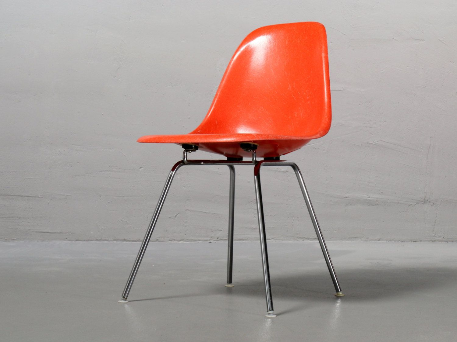 Vitra Herman Miller Side Chair Dsx Ray Und Charles Eames Coral