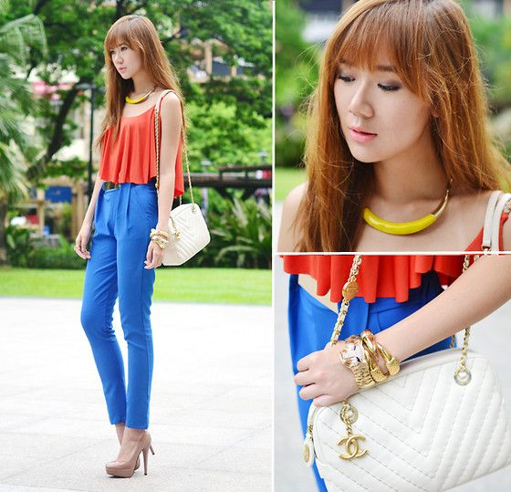 Orange and Blue (by Camille Co) http://lookbook.nu/look/3714309-Orange-and-Blue