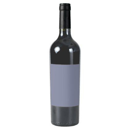 Calm Gray Solid Color Customize It Wine Label