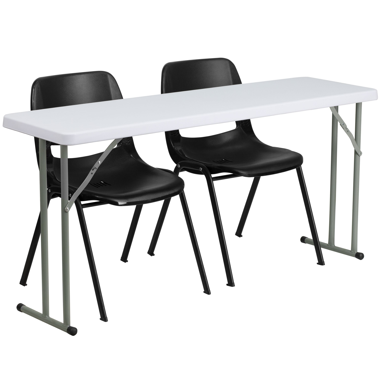 Flash Furniture 18 inch x 60 inch Plastic Folding Training Table