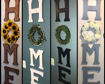 Home Letter with Wreath, Home Sign with wreath, Ho