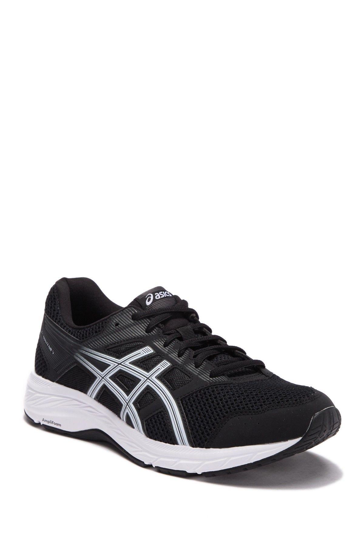 Asics Men/'s GEL-Contend 5 Black White Mesh fashion-sneakers